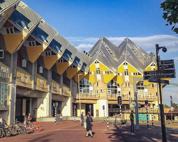 Cubic Houses of Rotterdam, Netherlands