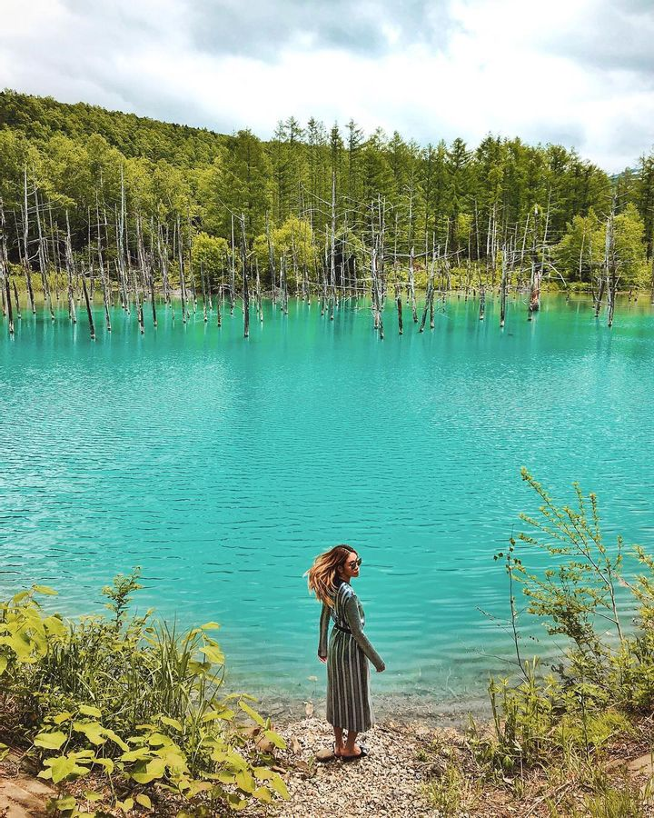 The Blue Pond of Hokkaido